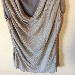 Wilt Tops - Pete Grey Cowl Neck Front Tank Blouse Professional